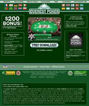 Screenshot del Sito Web di Everest Poker