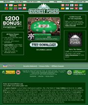 Screenshot des Everest Poker Website