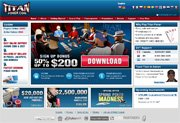 Screenshot of the Titan Poker website